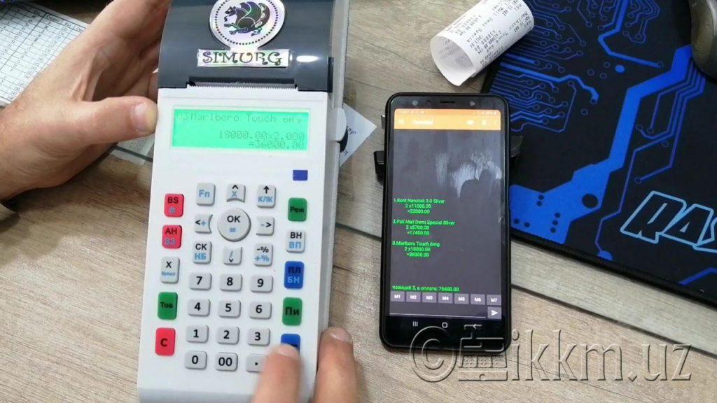 Смартфон как дополнительный экран для онлайн ККМ Симург 001